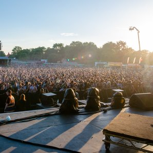 A view from the stage at Field Day 2014
