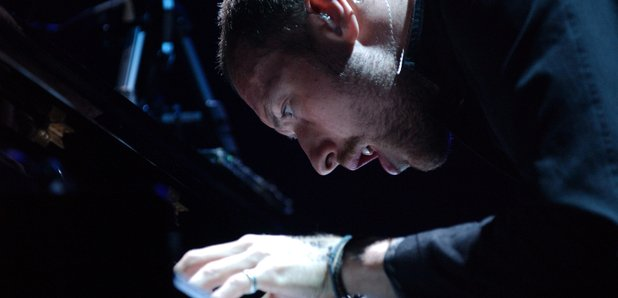 Chris Martin Coldplay at the piano