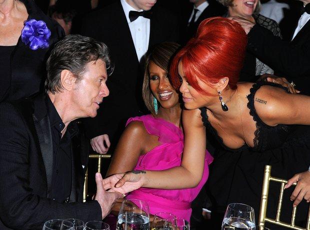 David Bowie, Iman and Rihanna
