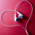 Headphones in a heart shape