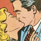 1950s Comic Book kiss