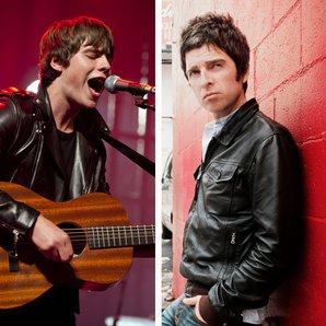 Jake Bugg and Noel Gallagher splitscreen