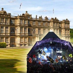 Glastonbury Pyramid stage and longleat image