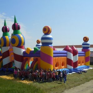 Bestival Biggest Bouncy Castle