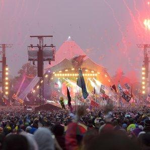 Pyramid Stage Glastonbury View 2016 Coldplay Set