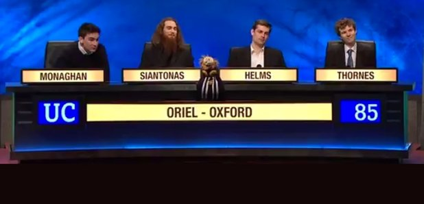 Oxford Students University Challenge Fail