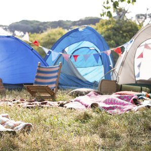 Empty Campsite At Festival