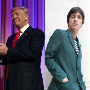 Donald Trump and Johnny Marr