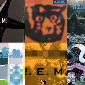 R.E.M. album collage