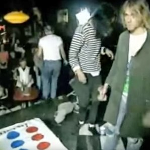Nirvana playing Twister