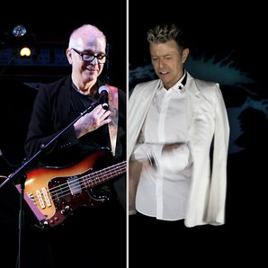 Tony Visconti Bowie split screen image