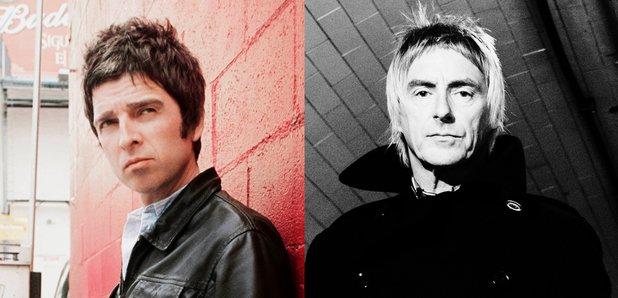 Noel Gallagher and Paul Weller split image