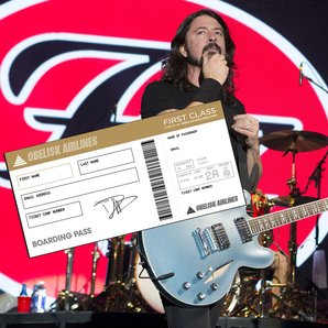 Foo Fighters live 2014 and Obelisk Airlines ticket