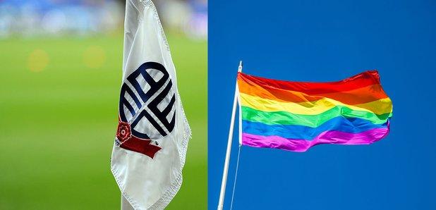 Bolton Wanderers Flag and Rainbow Flag