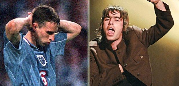 Gareth Southgate Euro 96 and Liam Gallagher