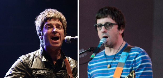 Noel Gallagher and Graham Coxon