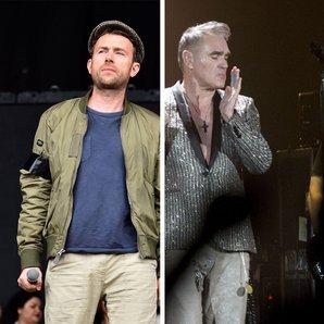 Damon Albarn and Morrissey