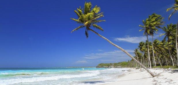 Bahamas beach stock image