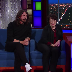Dave Grohl and Mother Report Card Stephen Colbert