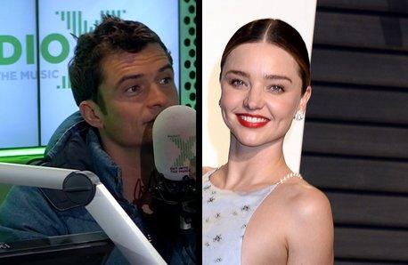 Orlando Bloom on Radio X and Miranda Kerr