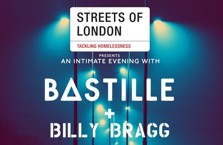 Streets Of London square Bastille charity gig post