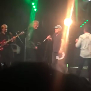 Brian Johnson Robert Plant Paul Rodgers on stage Y