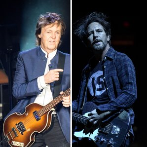 Paul McCartney Eddie Vedder