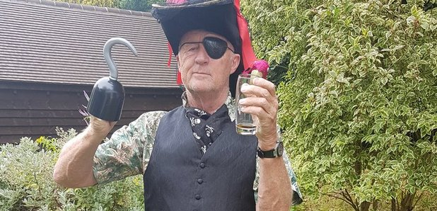 Chris Tarrant dressed as a pirate