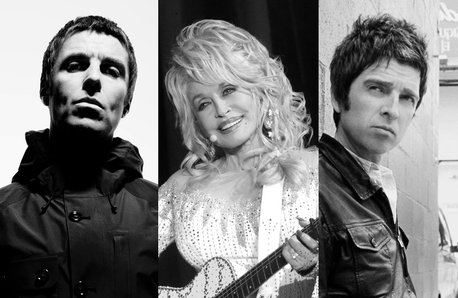 Liam Gallagher, Dolly Parton, Noel Gallagher