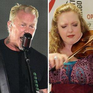 Metallica's James Hetfield and violinist Rachel Ba