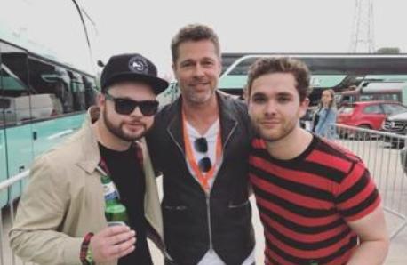 Brad Pitt and Royal Blood at Glastonbury 2017