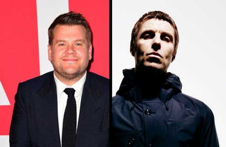James Corden and Liam Gallagher